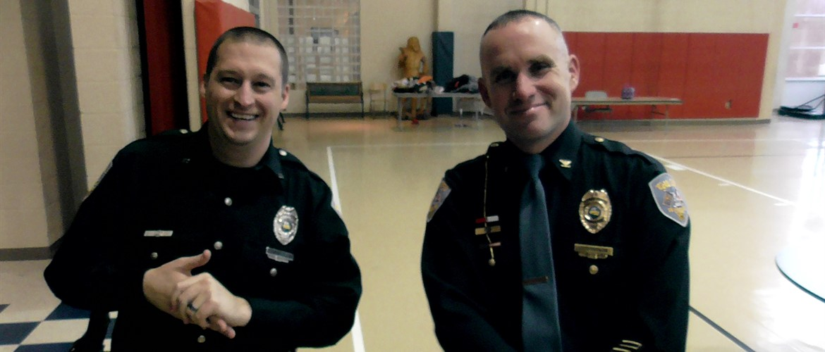 Our SRO and police chief after the G.R.E.A.T. graduation.