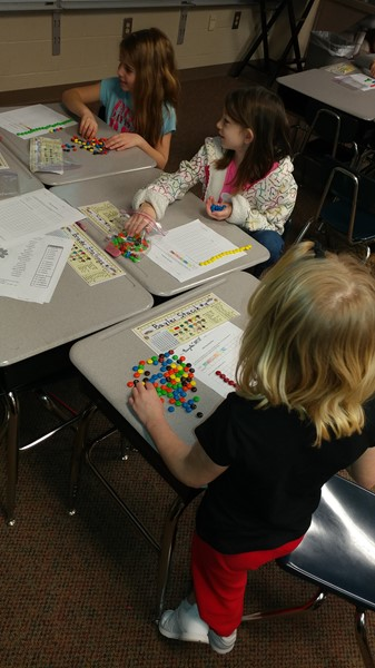 Ms. Hedinger's class 100th day of school graphing with M&Ms...also incorporated double digit addition with 2 or more steps.