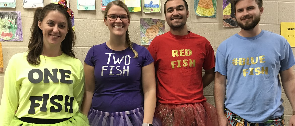 4th grade teachers. 1 fish 2 fish, red fish blue fish.