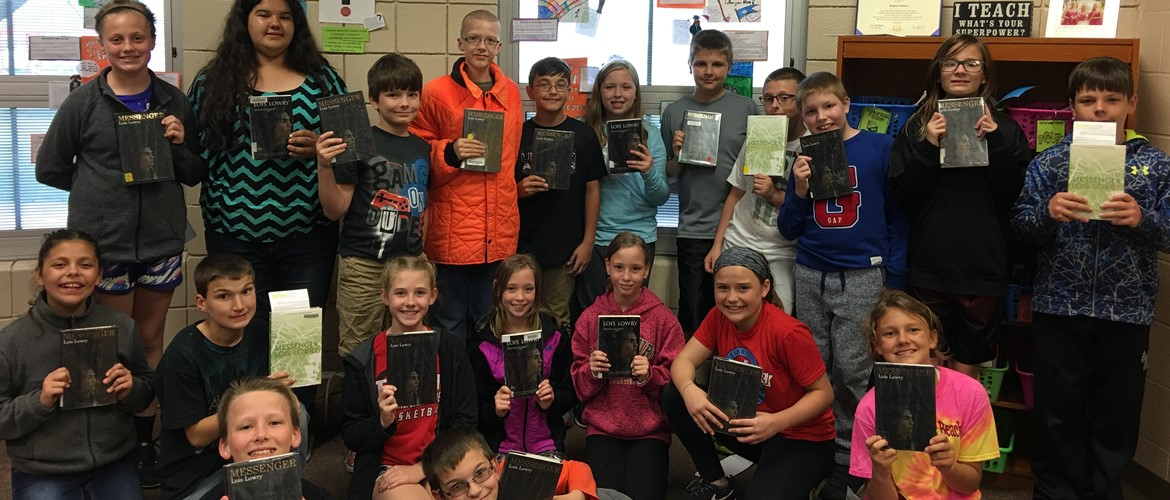 Ms. Litherland's class loves getting novel sets from the Perry County Bookmobile. We are currently reading The Messenger. We read The Giver and Gathering Blue first. They are part of a series!