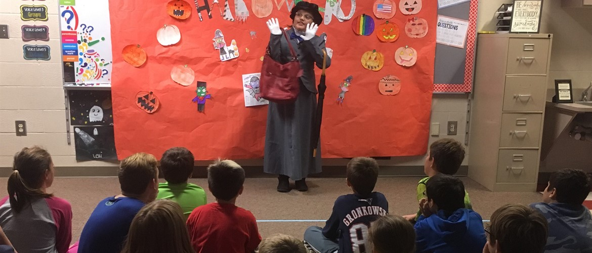 Ms. Peter's HallowRead event.