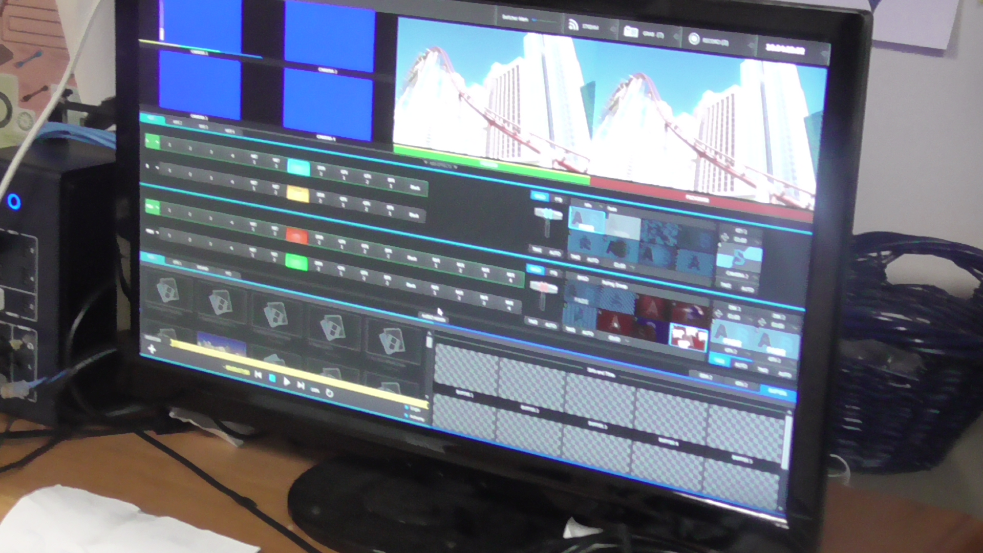 Students use a Tricaster Mini for their live shows.